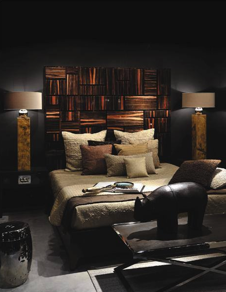 Andrew Martin / masculine bedroom / beautiful!  #home #decor #luxury #bedroom #masculine #guys #andrew_martin