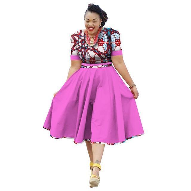African Clothing Summer Dress For Women Dashiki Bazin Riche Vestidos 1d70753d34e0