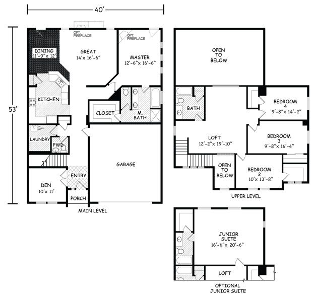 Floor Plans Build On Your Land The Vista Model Simplicity Homes