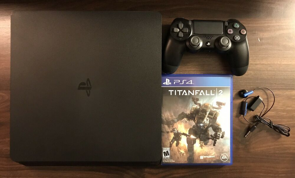 Sony Playstation 4 Slim 1tb Usa Ps4 Console Wireless Controller Titanfall 2 Ps4 Gaming Video East River Online In 2019 Ps4 Game Console Playstation Ps4