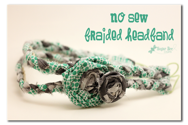 No sew braided headbands using hair things and fabric scraps (great for girls camp)