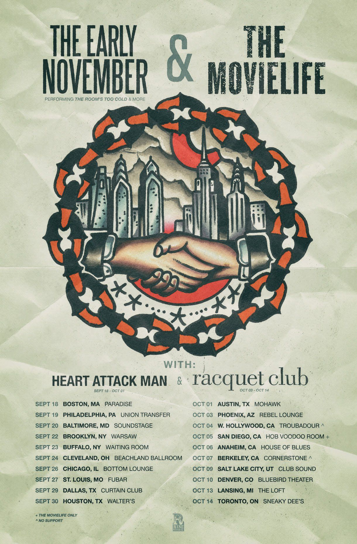 The Movielife And The Early November Announce Fall Co Headlining