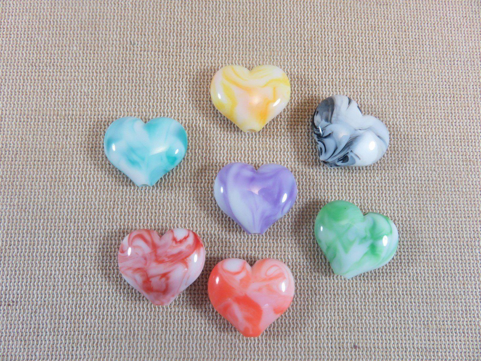Lot 10-20 Perles Rayée Acrilique 8mm Marbrées Creation bijoux marbre raye