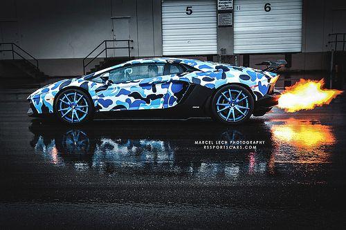Camo Lamborghini spitting fire Automotive Pinterest Bape - team 7 küchen preise