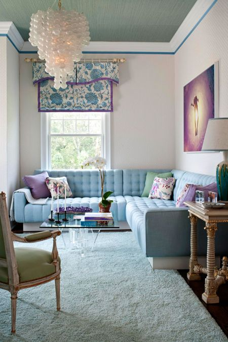 Color Of The Month Steel Blue The Decorating Files Small Living Rooms Home Blue Living Room