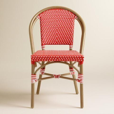 Barbados Cherry Kaliko French Bistro Chairs Set Of 2 World
