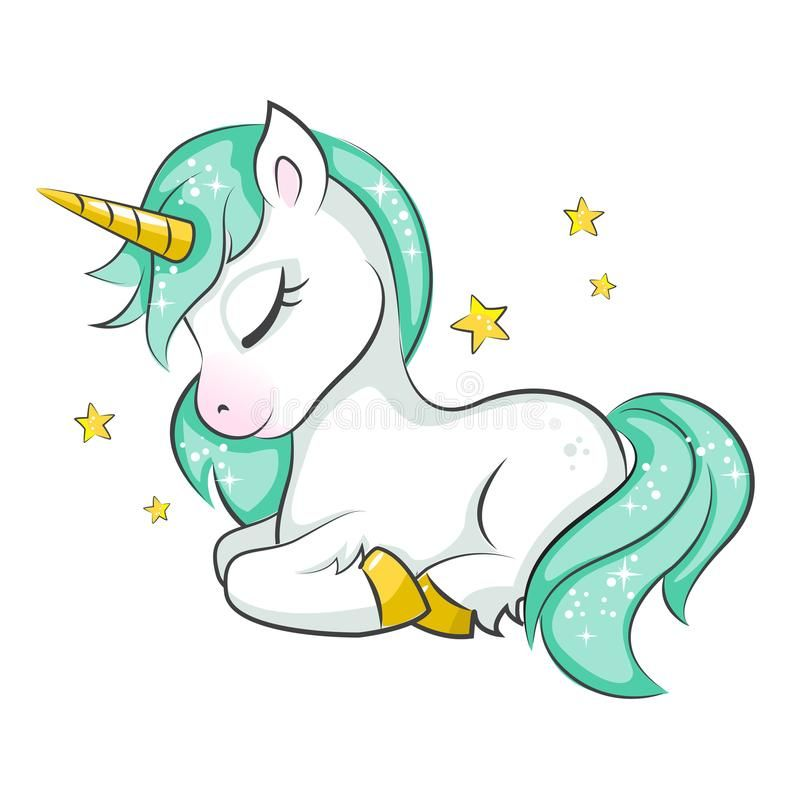 Cute little unicorn. stock vector. Illustration of magical - 100726356