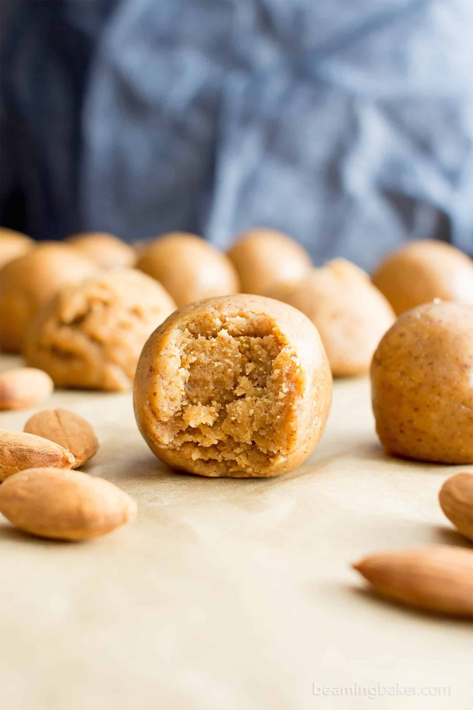 3 Ingredient No Bake Almond Butter Paleo Energy Balls V Gf Df