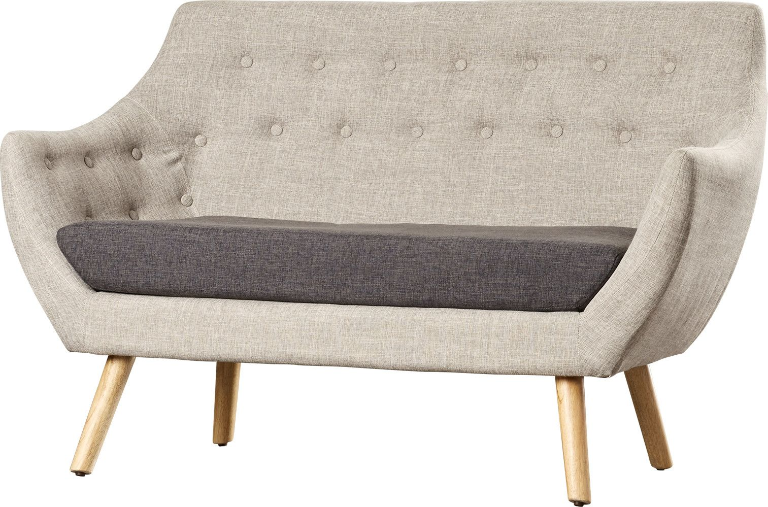 La campana mid century fabric loveseat cafe furniture living room furniture online modern