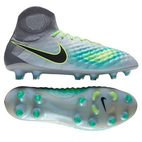 111f014b150a Nike Magista Obra II FG Soccer Cleats (Pure Platinum Black Ghost Green)