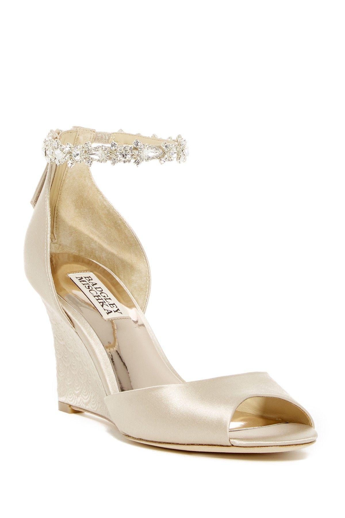3925b8cb53e6 Badgley Mischka Tahlia Crystal Ankle Strap Sandal (Women)
