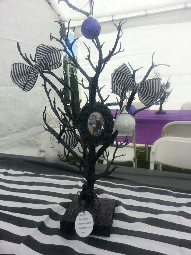Nightmare before christmas centerpieces. | Dominic's 1st birthday ...