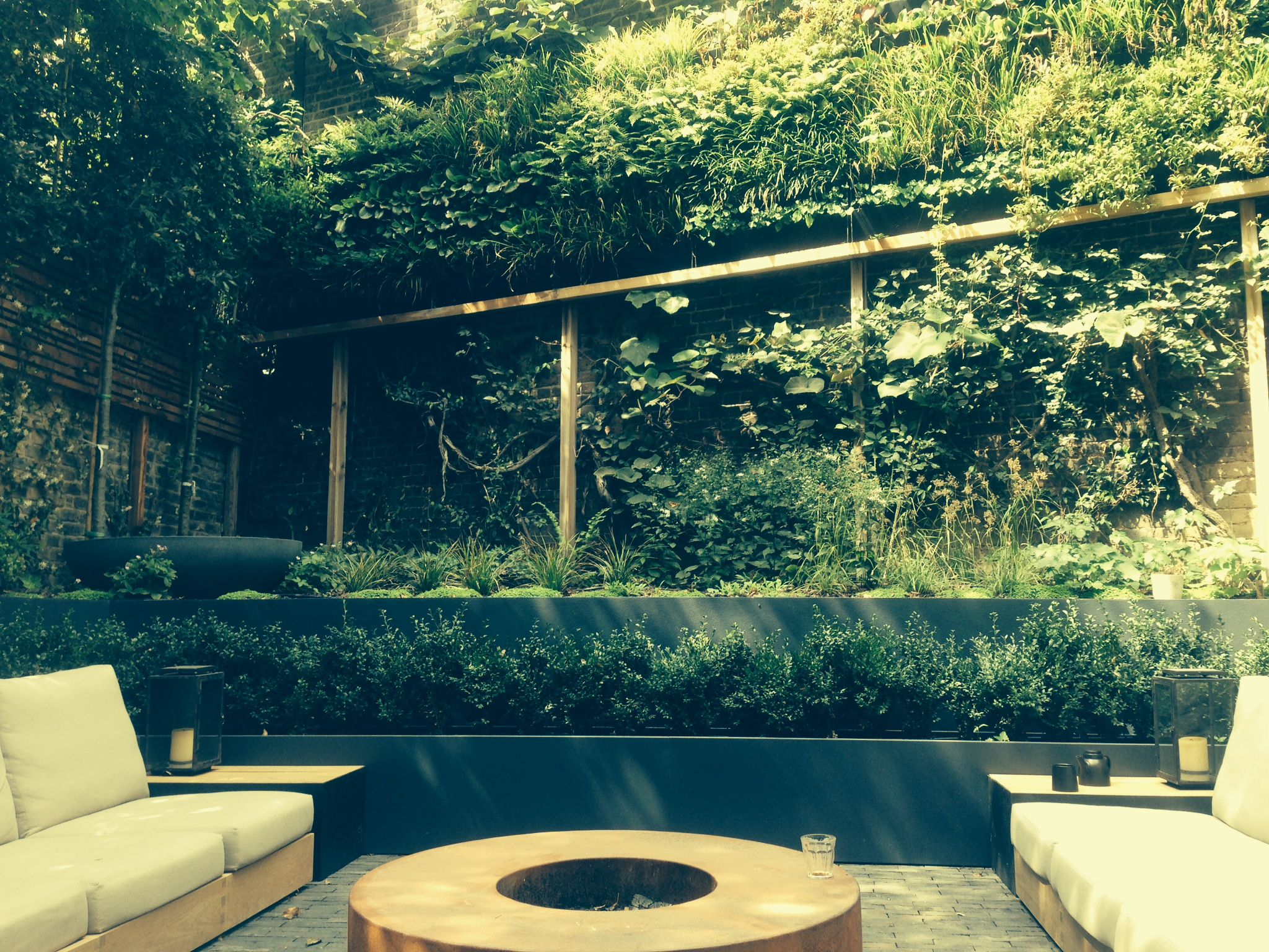 Chic modern garden design in chelsea by declan buckley with steps and - A Declan Buckley Design Built By Natures Balance In Notting Hill With Living Wall