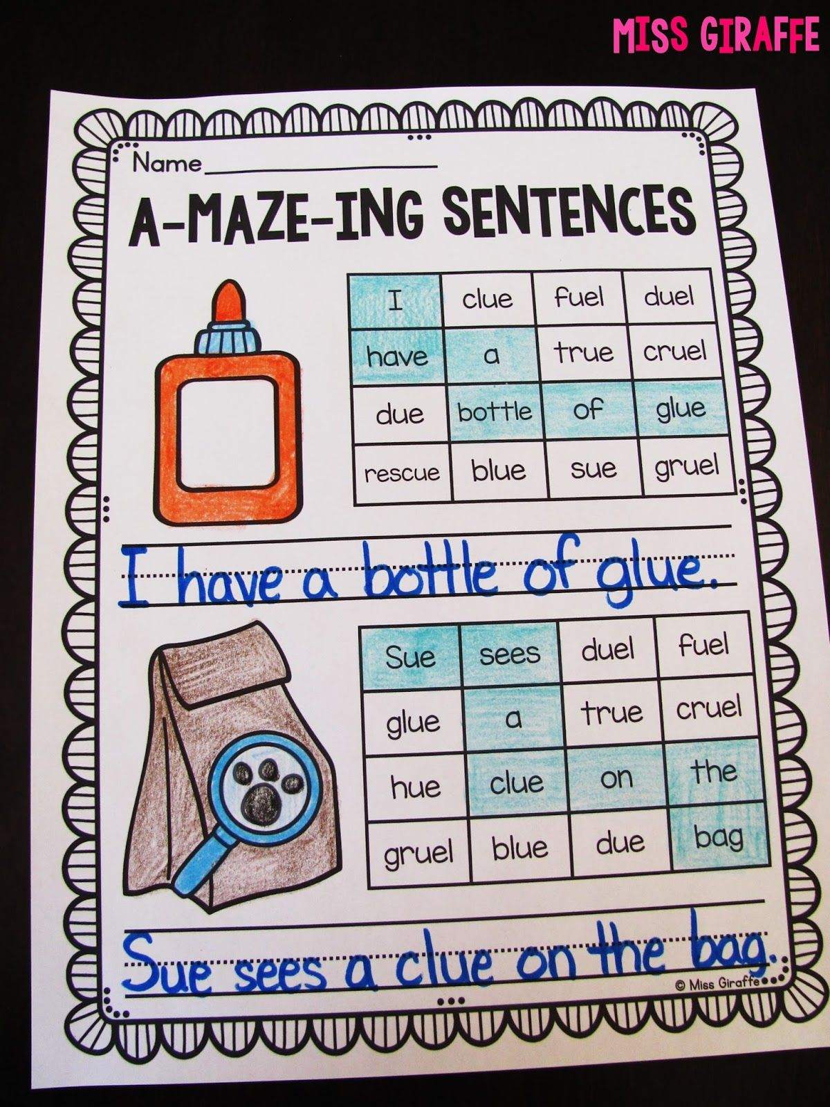 worksheet Ui Phonics Worksheets np amazeingsentences jpg phonics pinterest a maze ing sentences are the best for challenging your high students or fast finishers kids read through with words w
