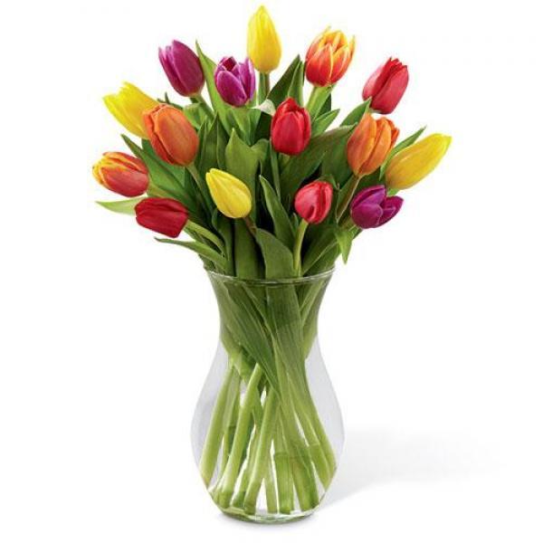 15 Mixed Tulips Vase In 2020 Order Flowers Online Beautiful Bouquet Of Flowers Flowers Online