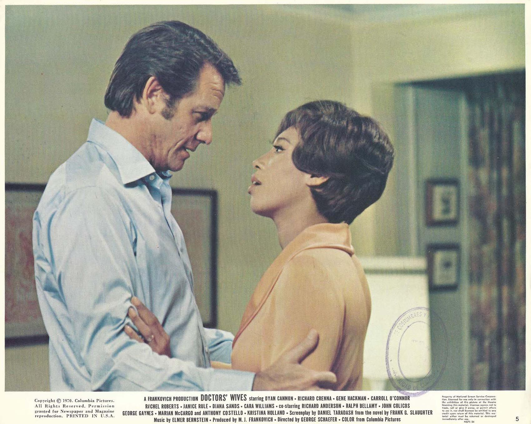 "DIANA SANDS & RICHARD CRENNA in ""Doctor's Wives"" Original Vint. Color Photo 1970 
