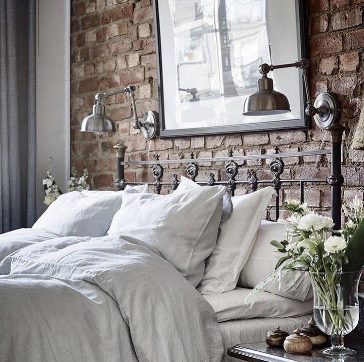 Exposed Brick Bedroom Design Sensual Bedroom Paint Colors Master Bedroom Accent Wall Bedroom Curtains Harry Corry: Pin By Bernadett Tanka On Lakberendezés In 2019