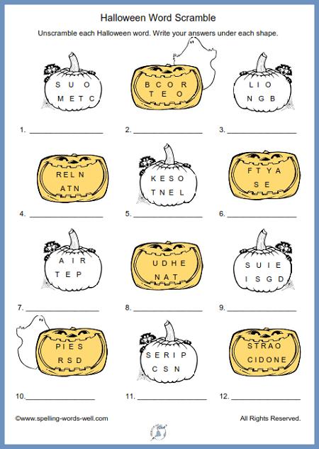 halloween crossword 5th grade Google Search Halloween