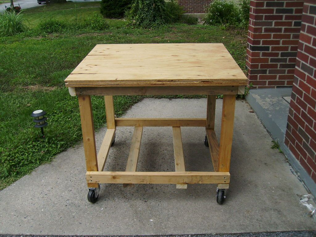 Mobile Workbench Or Tool Cart Made With Salvaged Wood