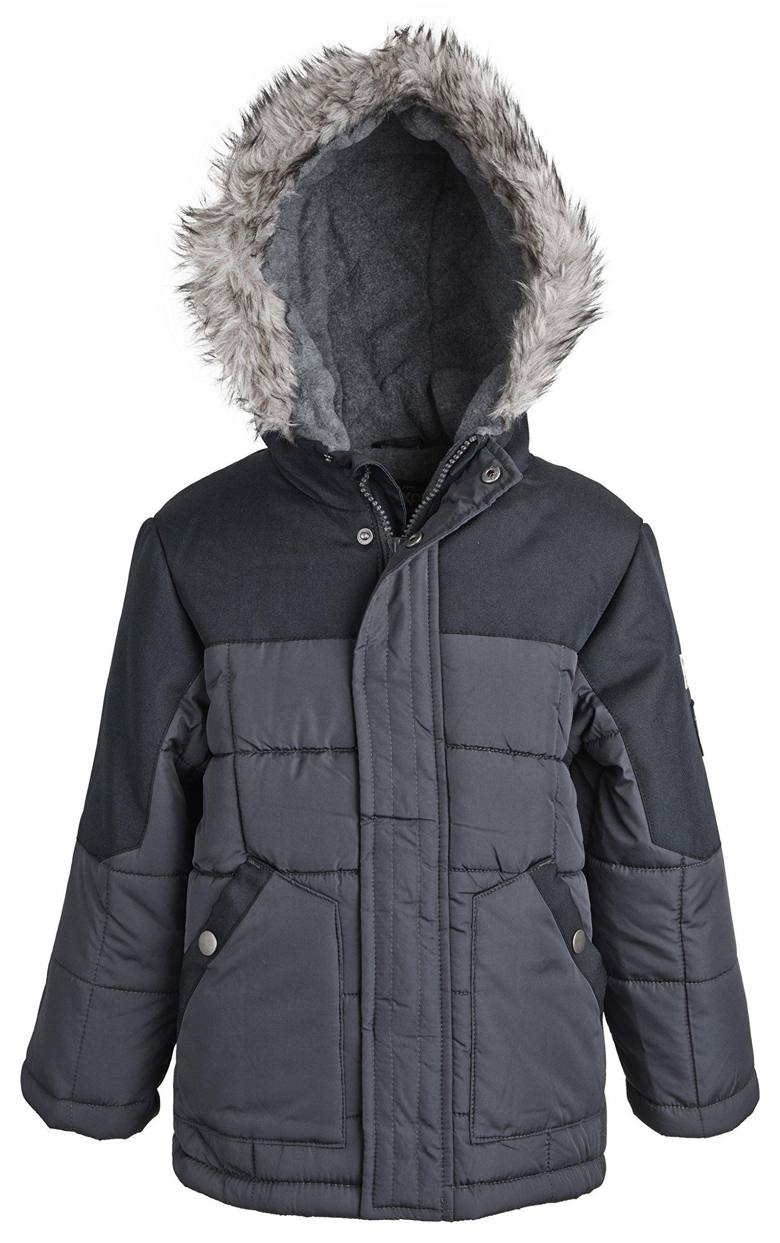 Osh Kosh Little Boys Quilted Winter Puffer Jacket With Fleece Lined Hood Black Size 5 6 Plush Fleece Lines The Winter Puffer Jackets Puffer Jackets Puffer [ 2560 x 1607 Pixel ]