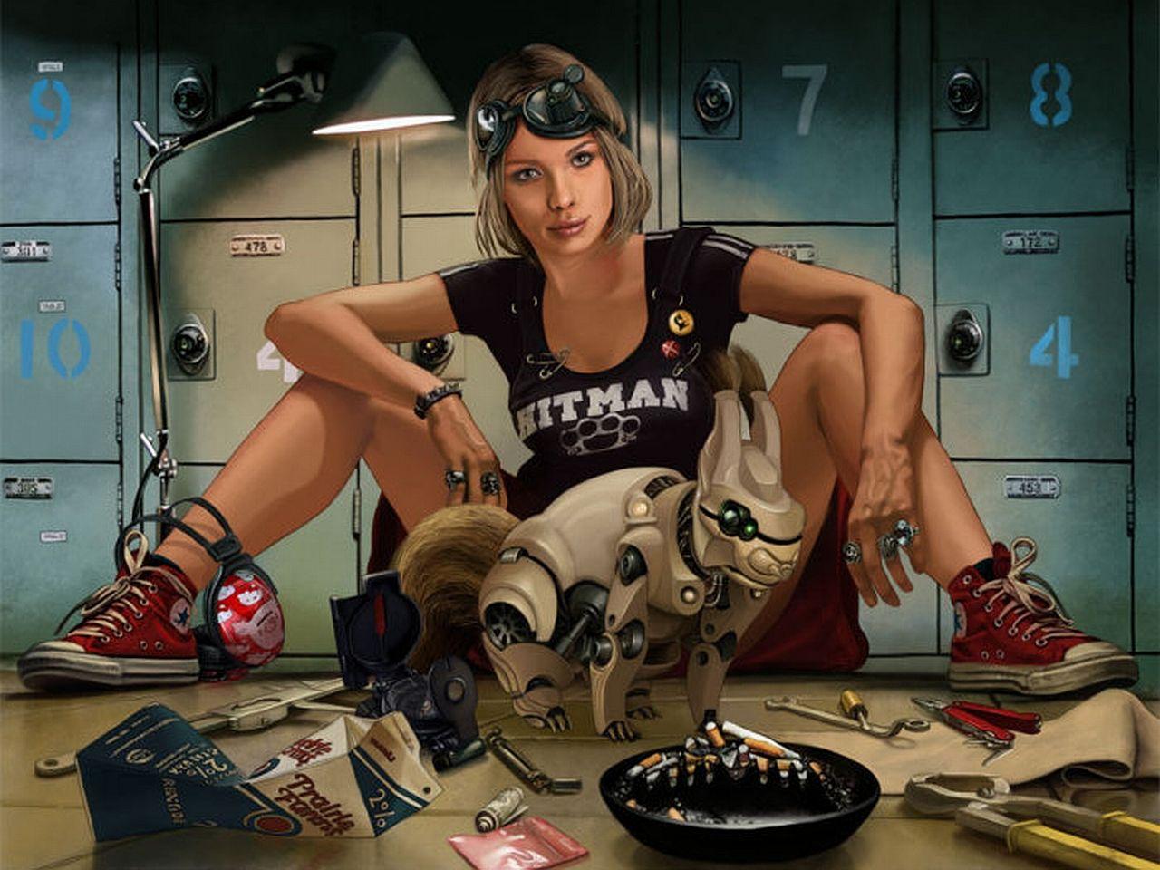 Sci Fi Women Wallpaper Hot Cyberpunk Science Fiction
