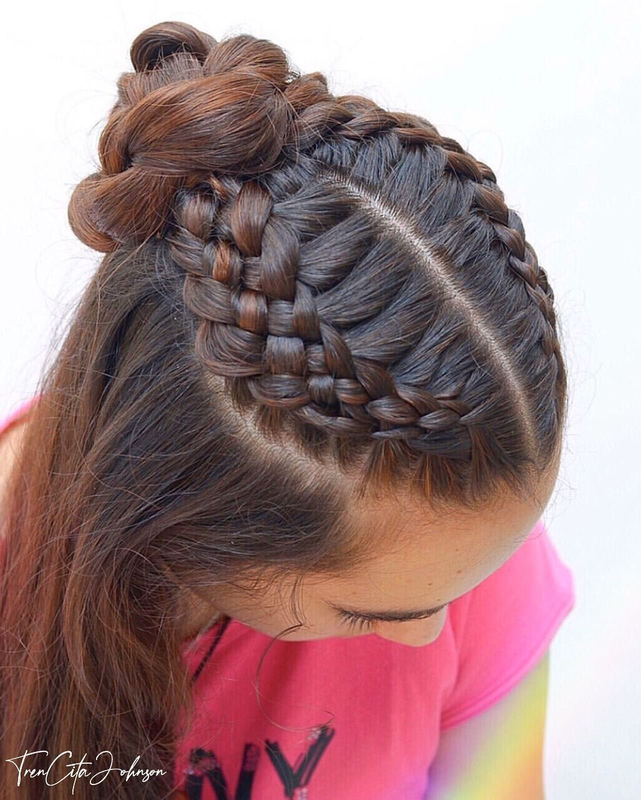 Braided Hairstyles Pictures Braided Hairstyles For Black 12 Year Olds Braided Updos Youtube Hairstyles Braid And C In 2020 Geflochtene Haare Haar Pony Haar Styling