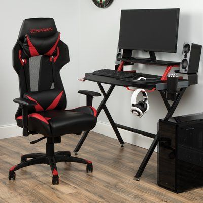 Respawn Gaming Desk and Chair Set Color: Green #gamingdesk