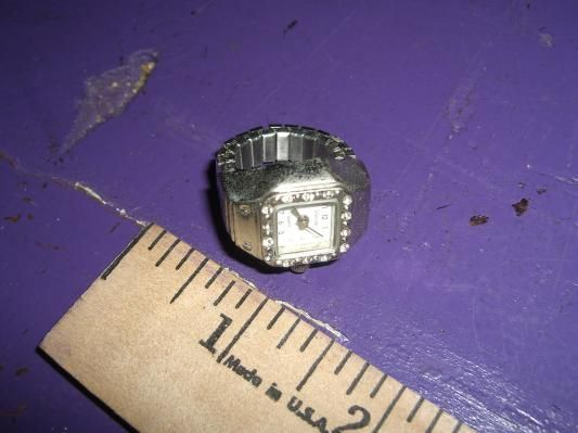 Vintage Ravinia Ring Watch Adjustable Size Stretch Stainless