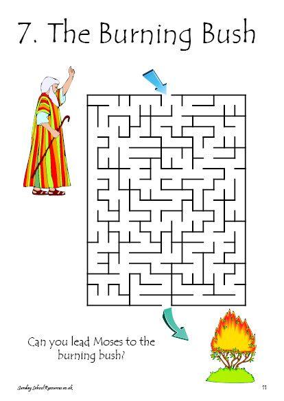 Bible Maze Activity For Sunday School
