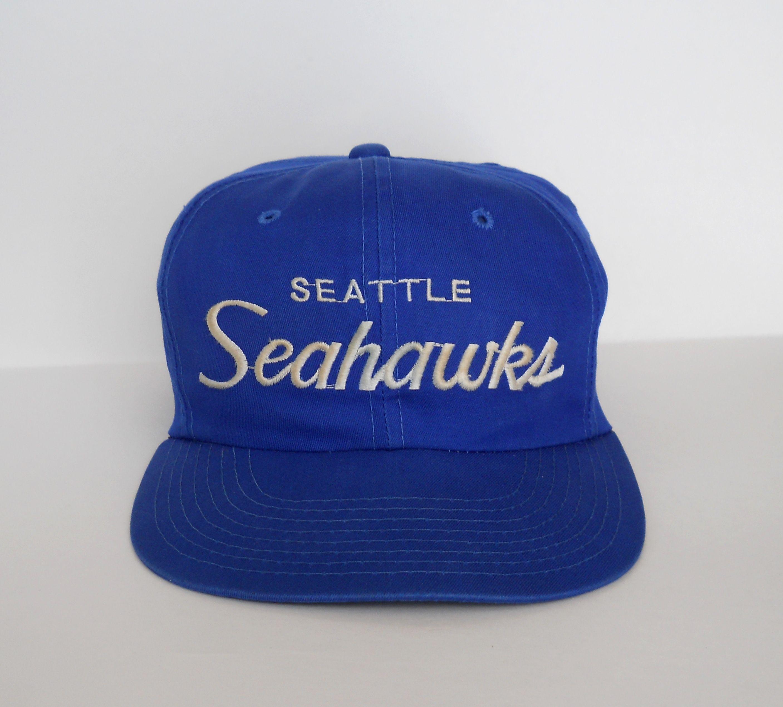 21a93b846 Vintage Sports Specialties Seattle Seahawks Script Corduroy Zipback Hat Cap