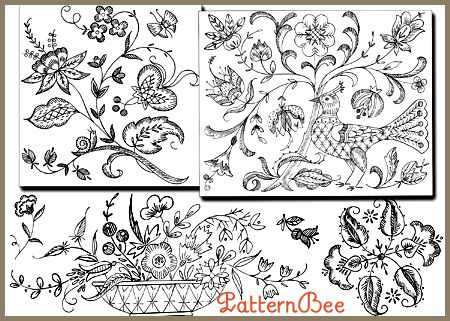Old English Embroidery Patterns Love These Embroidery Vintage