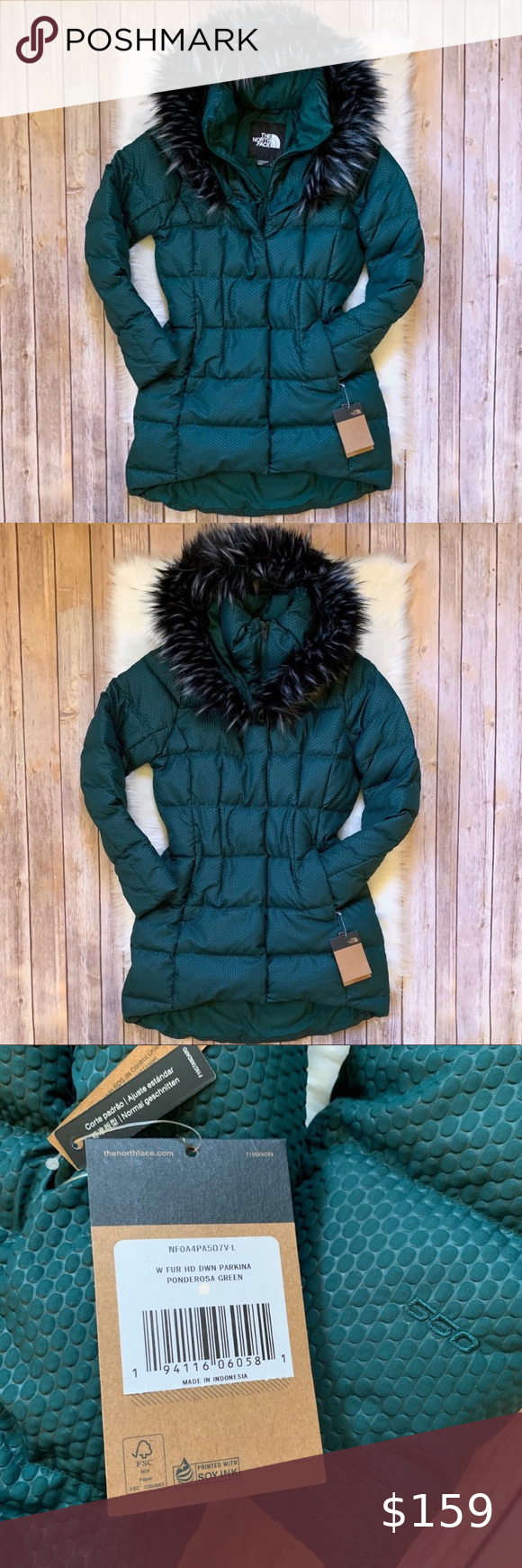 The North Face Fur Hooded Down Parkina Jacket Purple North Face Jacket North Face Winter Coat Clothes Design [ 1740 x 580 Pixel ]