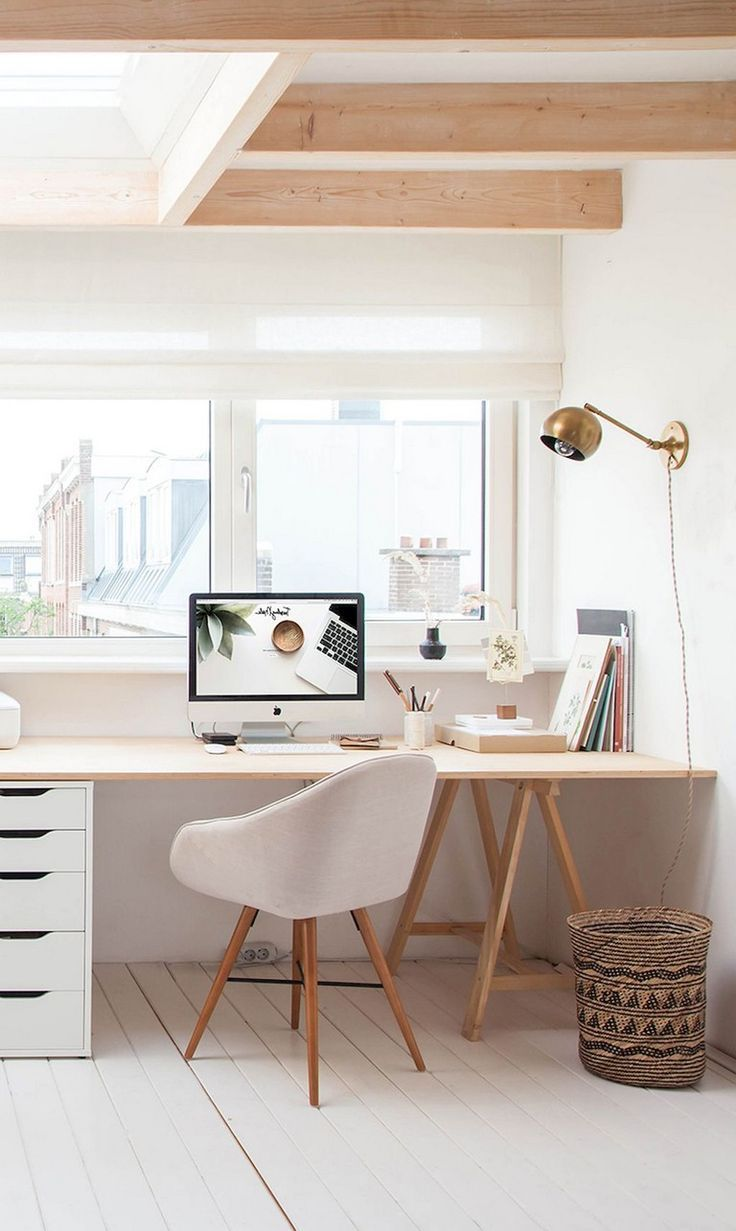 55 Awesome And Subtle Home Office Scandinavian Design Ideas Minimalist Apartment Decor Apartment Decor Cheap Home Decor