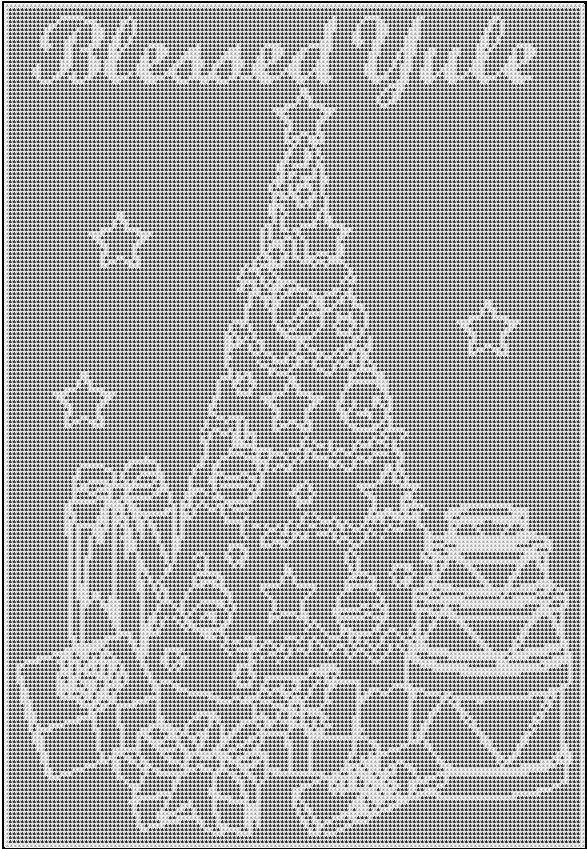 crochet crone u0026 39 s designs  free filet crochet yule pattern