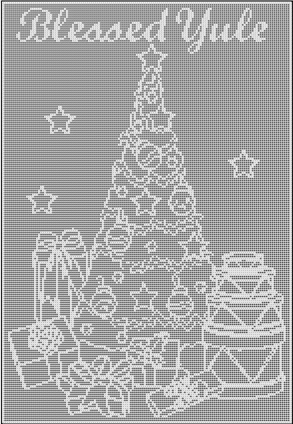Crochet Crone\'s Designs: Free Filet Crochet Yule Pattern   Meine ...