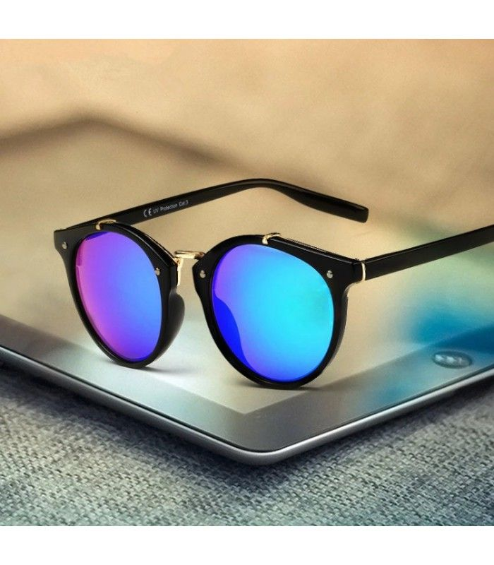 054a10f947 Gafa de sol lentes multicolor y armadura negra. | Lentes de sol ...