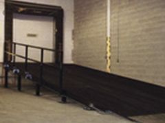 Ramp for Dock Door -Custom Welded Wire mesh products.  http://www.glassessential.com/welded-wire-mesh/custom  #Wire #wiremesh #Partitions #fence #locker #cage #wirecage #wirepartitions #wirelocker #glassessential #glassessential.com