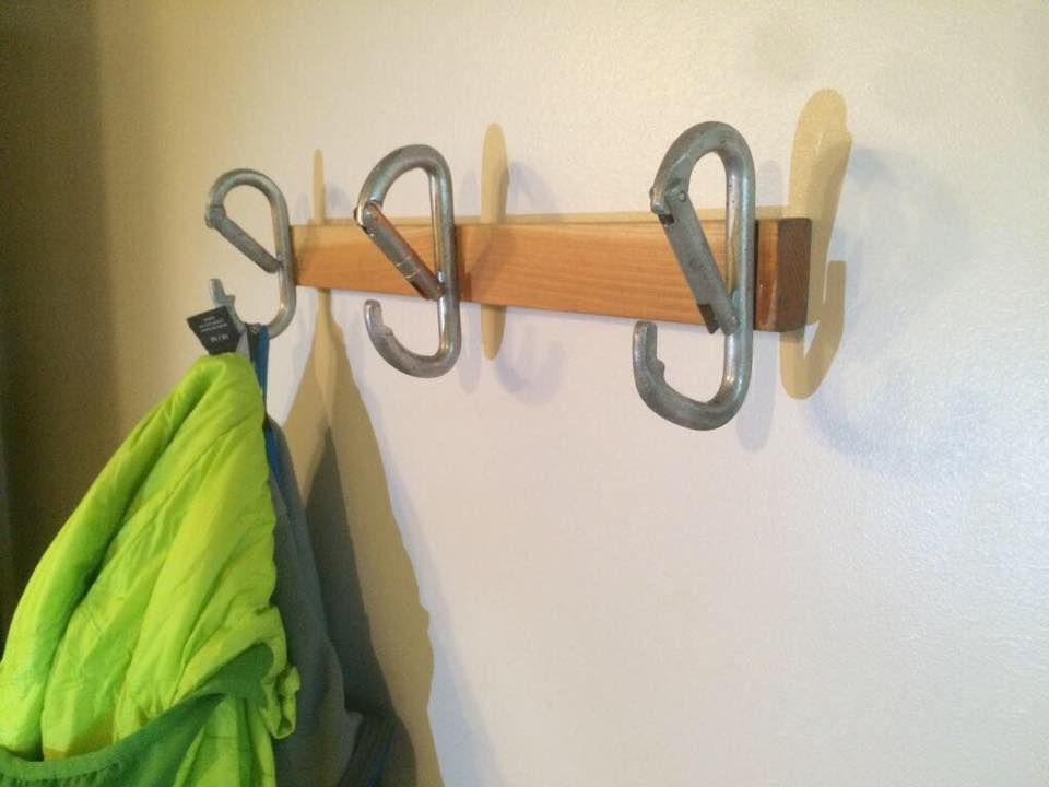 this is way cooler when you use climbing hold to make a coat hanger its