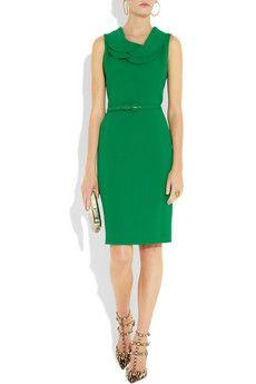 Oscar de la Renta - Wool Crepe Dress