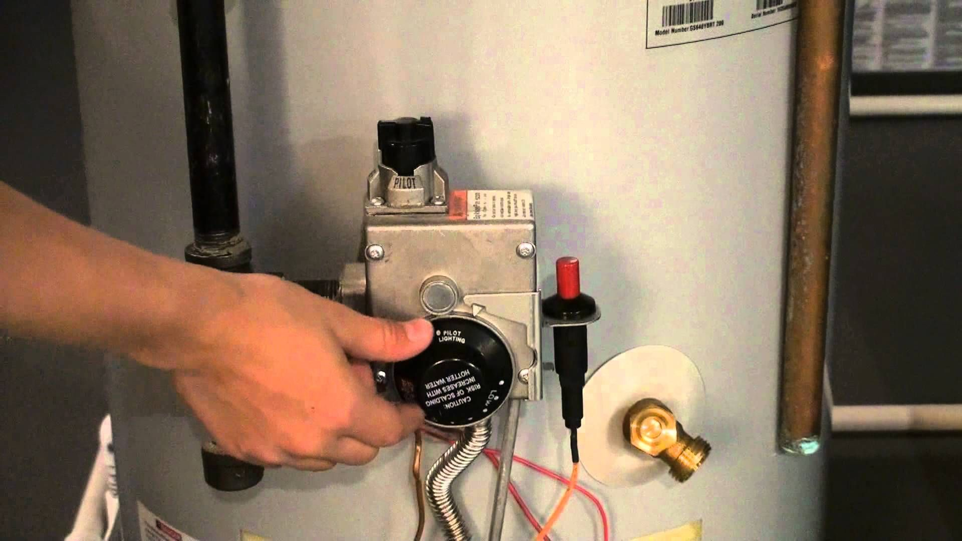 Light gas water heater step by step instructions Gas