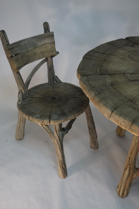 Whimsical Table Set Marcella Marie Faux Bois In 2020 Table Table Settings Organic Furniture