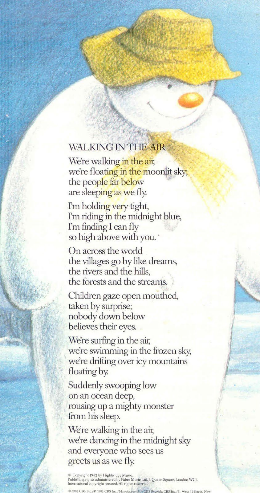 Walking In The Air from The Snowman is one of those songs that I can ...