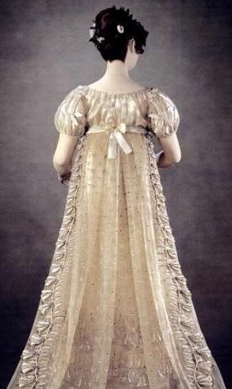 "Photo of Princess Charlotte's  Court Dress, the ""Bellflower Dress"", 1814-1816."