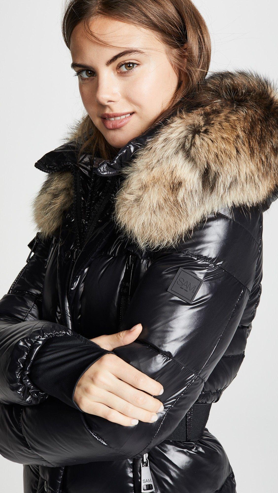 Millennium Long Down Jacket Cute Furs Jackets Coat Down Puffer Coat [ 2000 x 1128 Pixel ]