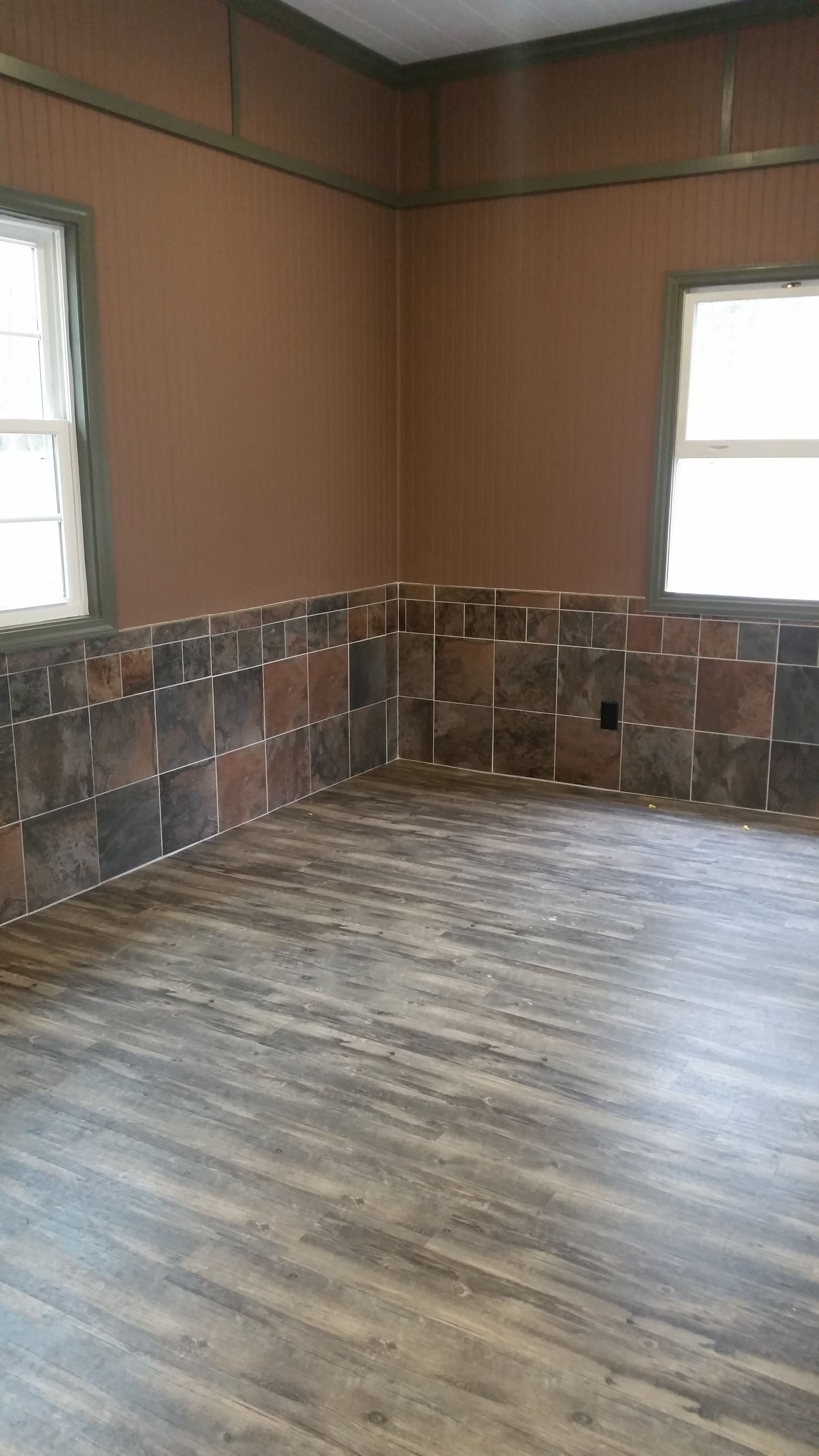 Rustic man cave conversion from a garageflooring is a floating rustic man cave conversion from a garageflooring is a floating style heavy duty lvt luxury vinyl tileplank walls have a slate look ceramic tile with a doublecrazyfo Choice Image