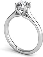 Petite Trellis Diamond Solitaire Engagement Ring SNT157