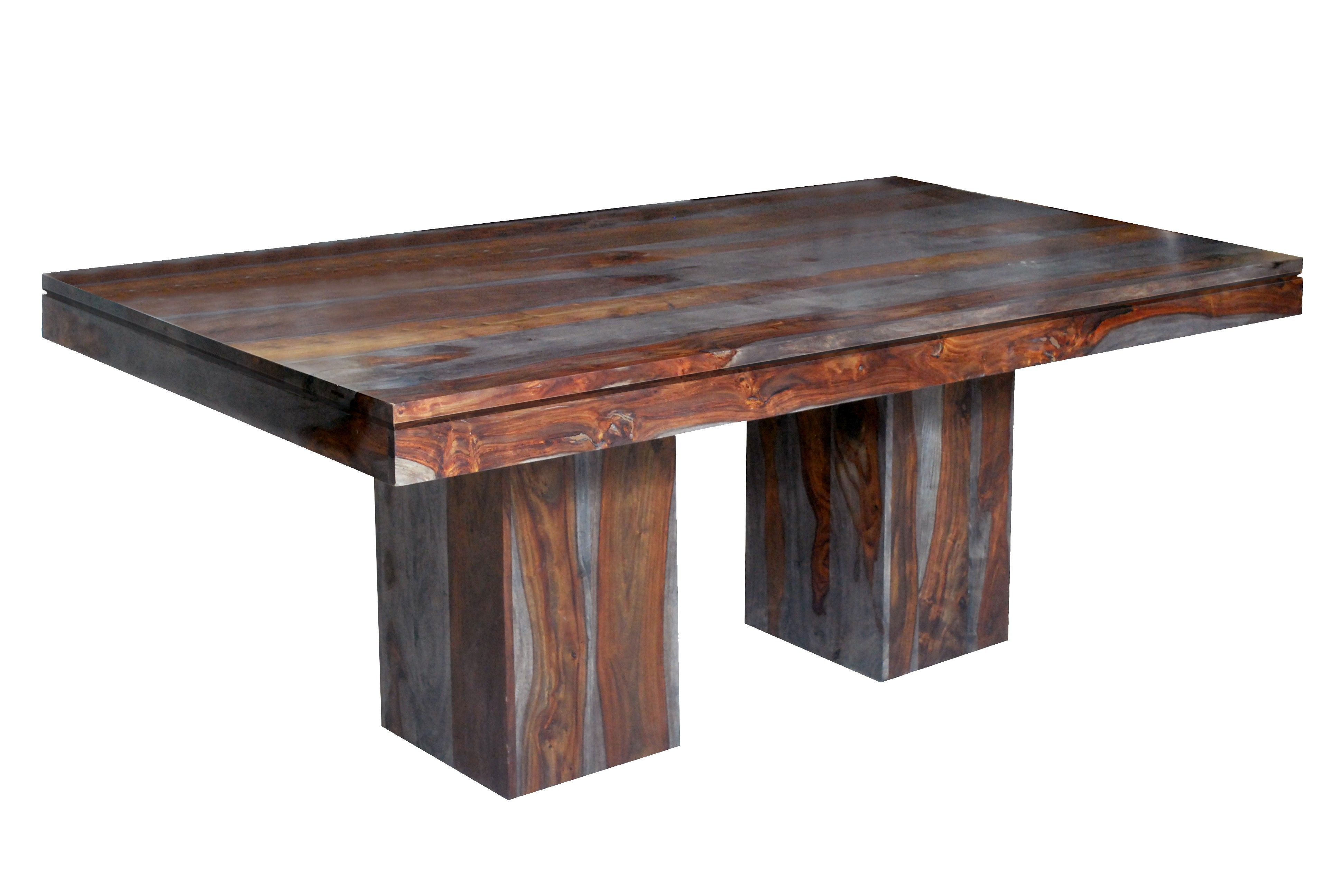 Grey Toned Sheesham Wood Dining Table 69631 69632 Alert1