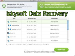 iskysoft iphone data recovery serial key