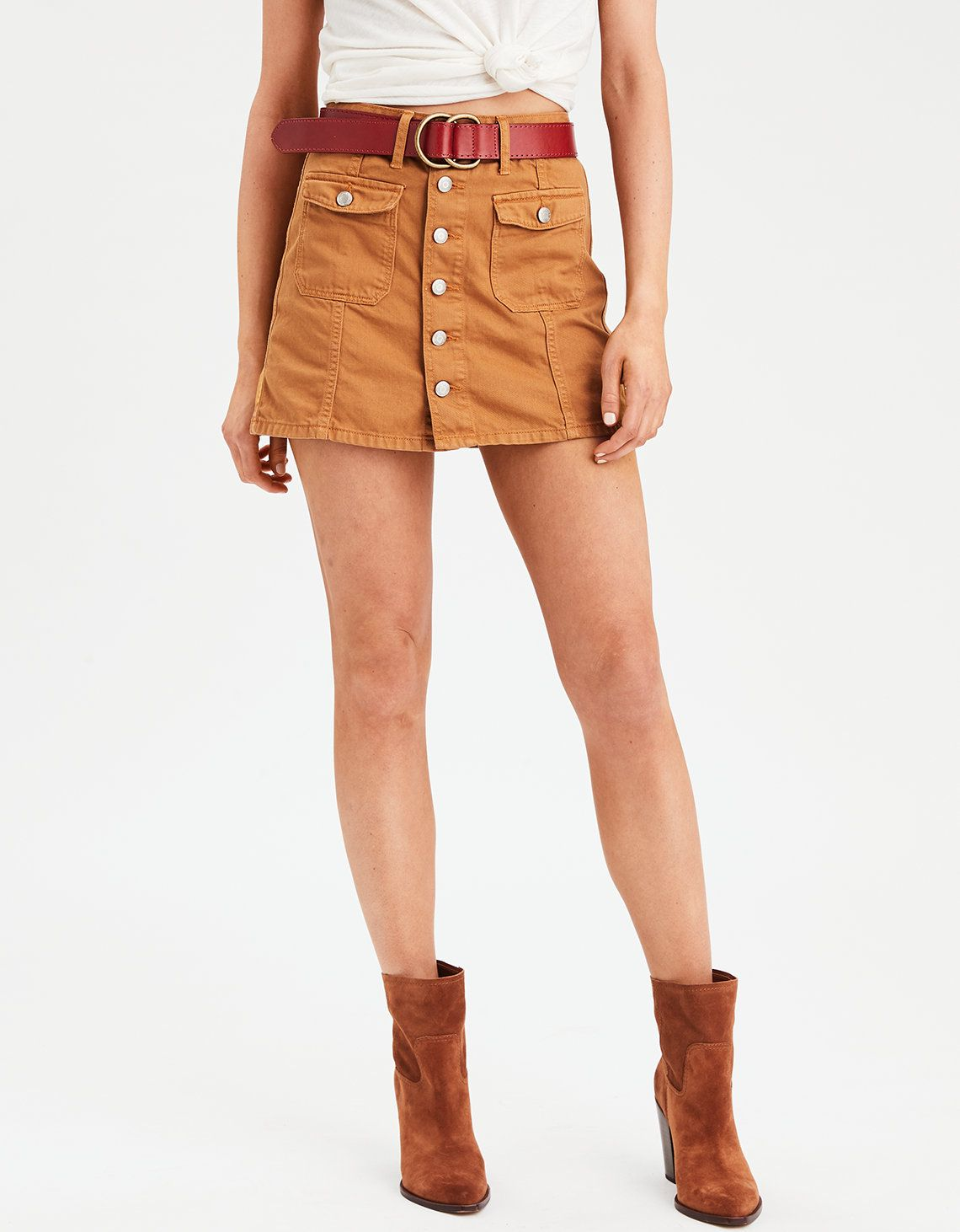 b23a36a5e6 Product Image Womens Clearance, Mens Outfitters, American Eagle Outfitters,  Denim Skirt, Mustard