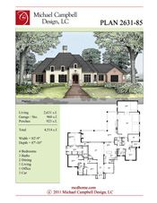 House Plan 2631 square feet French Country Home Style Design, French